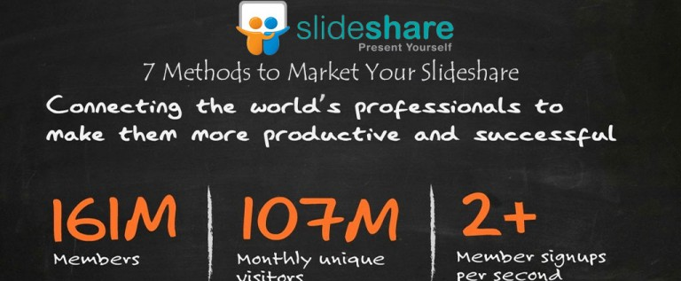 7 Methods to Market Your Slideshare