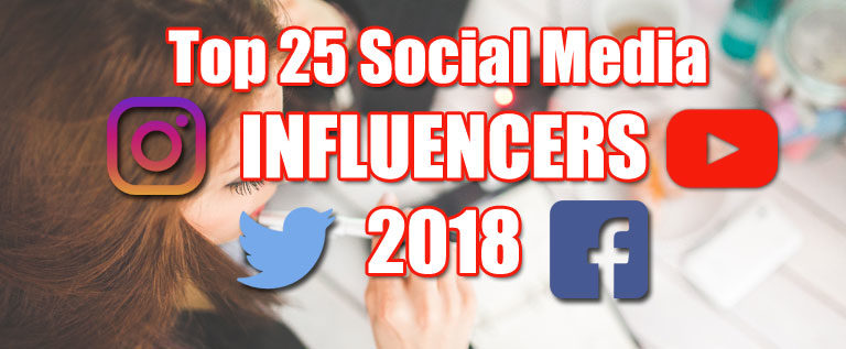 The Top Influencers Captivating Audiences across YouTube, Instagram, Facebook & Twitter